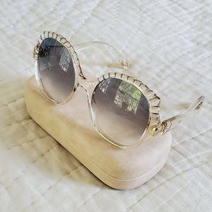 Chloe champagne over sized sunglasses